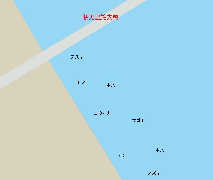伊万里湾大橋下ポイント図