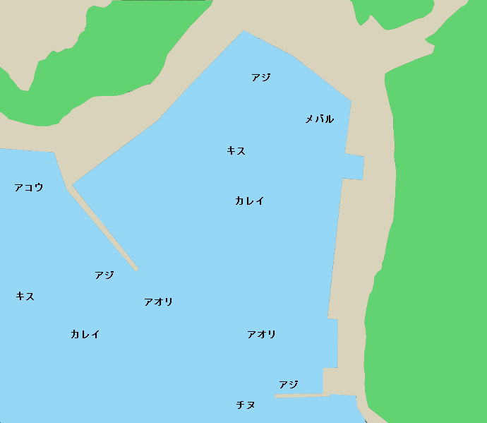 伊根漁港ポイント図
