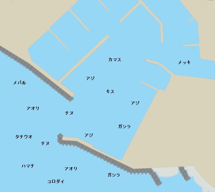 印南港ポイント図