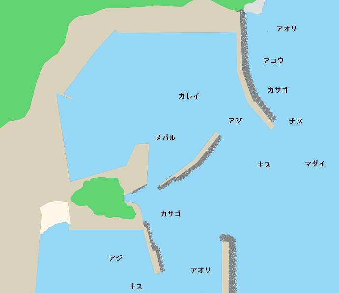蒲入漁港ポイント図
