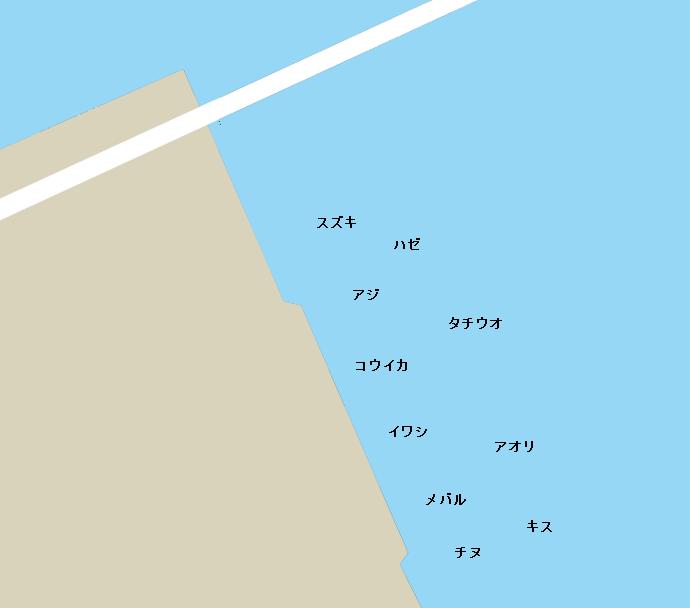 廿日市木材港ポイント図