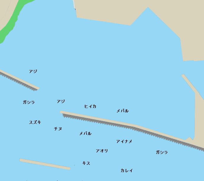岩見漁港ポイント図