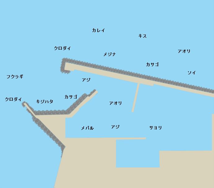 岩瀬漁港ポイント図