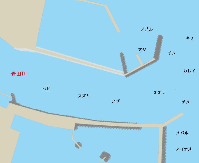 岩田川河口ポイント図