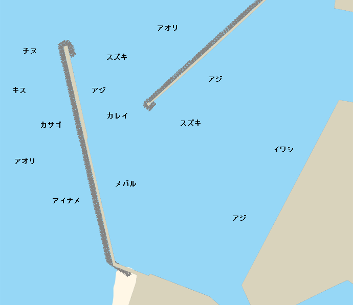 伊予港ポイント図