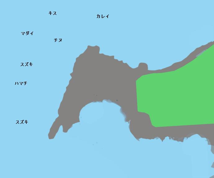 城ヶ崎ポイント図