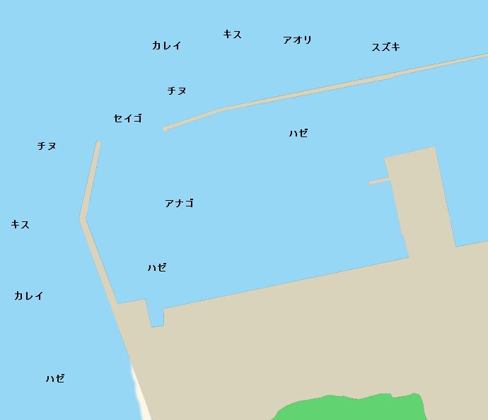 加布里漁港ポイント図