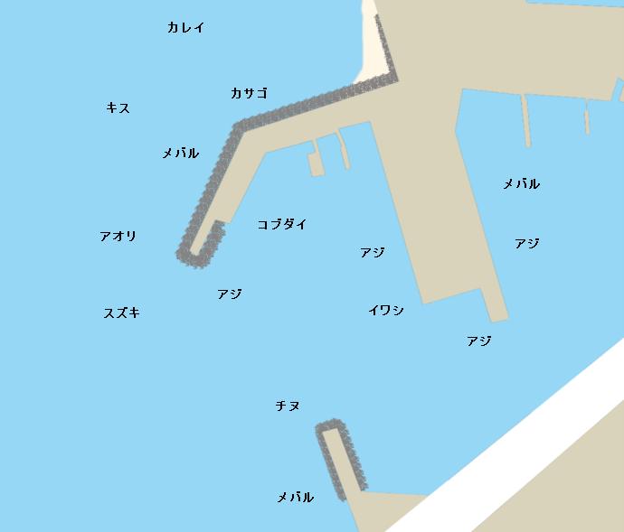 亀浦漁港ポイント図