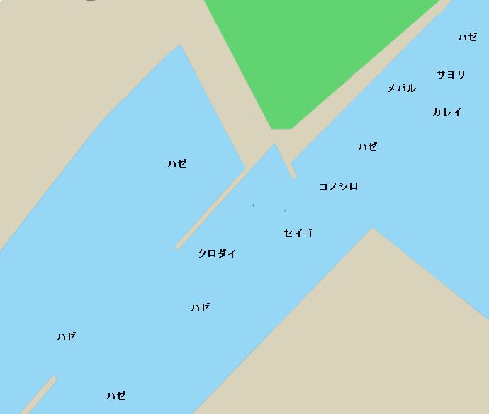 亀崎港ポイント図