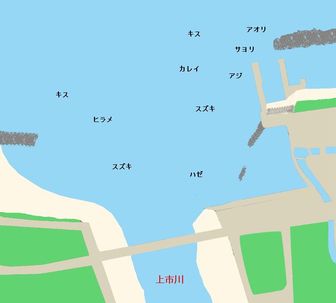 上市川河口ポイント図