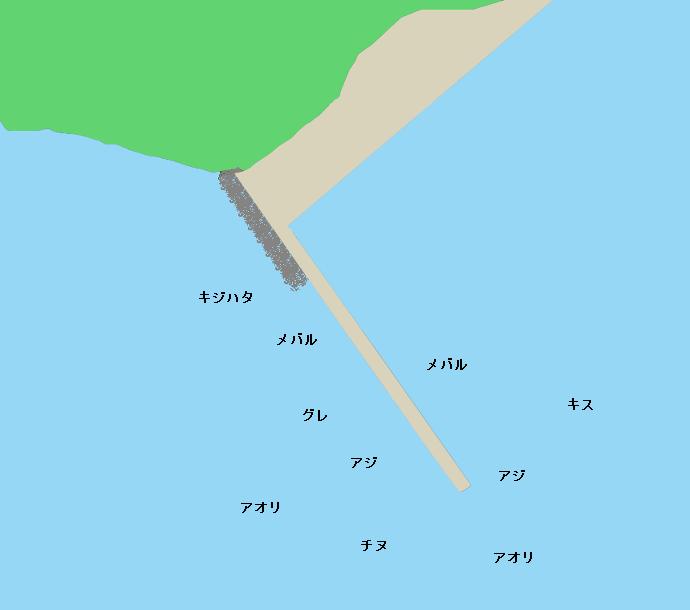 神子漁港ポイント図