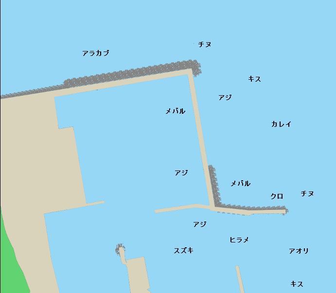 神湊漁港ポイント図