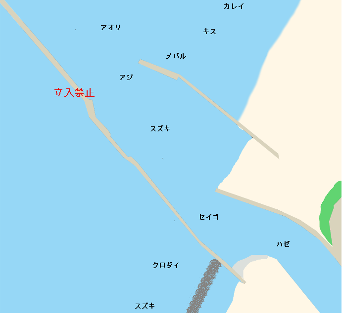 金石港ポイント図