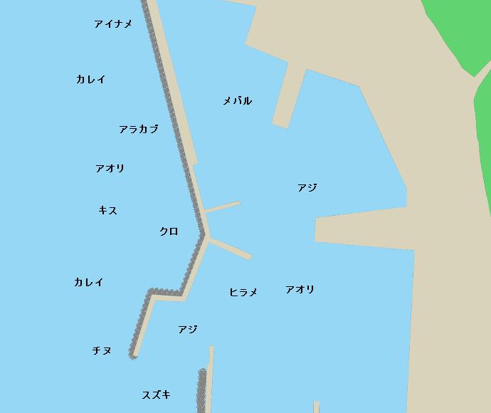 鐘崎漁港ポイント図