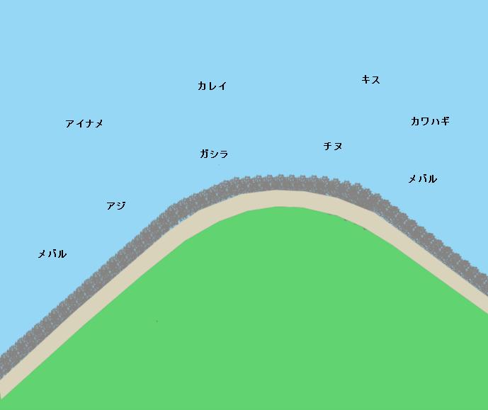 観音崎遊歩道ポイント図