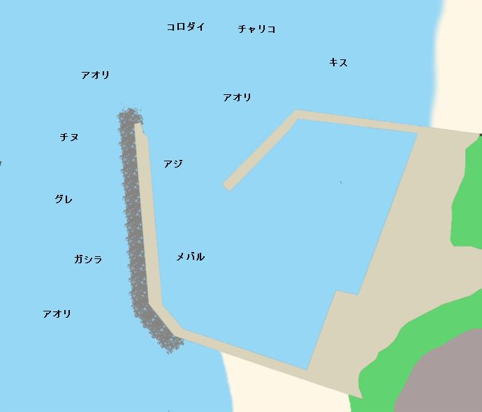 加尾漁港ポイント図
