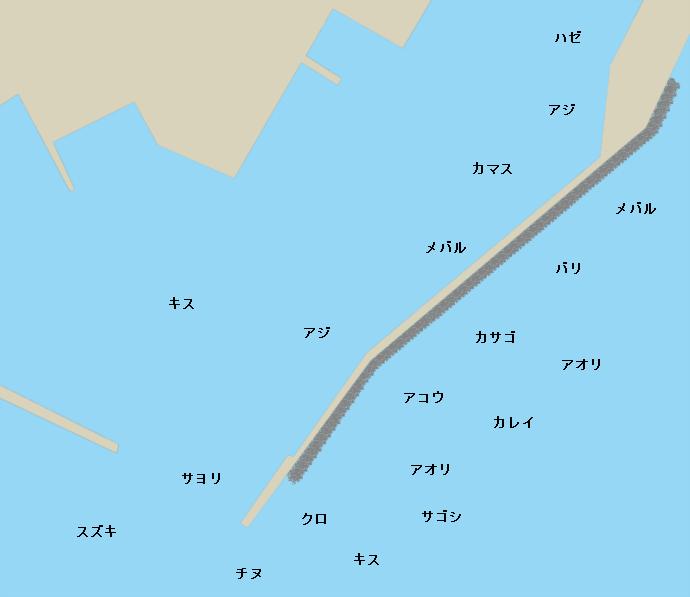 唐泊漁港ポイント図