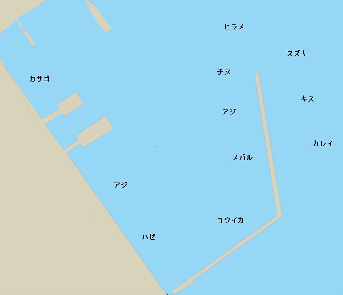 唐津東港ポイント図