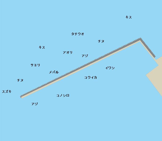 苅田港ポイント図