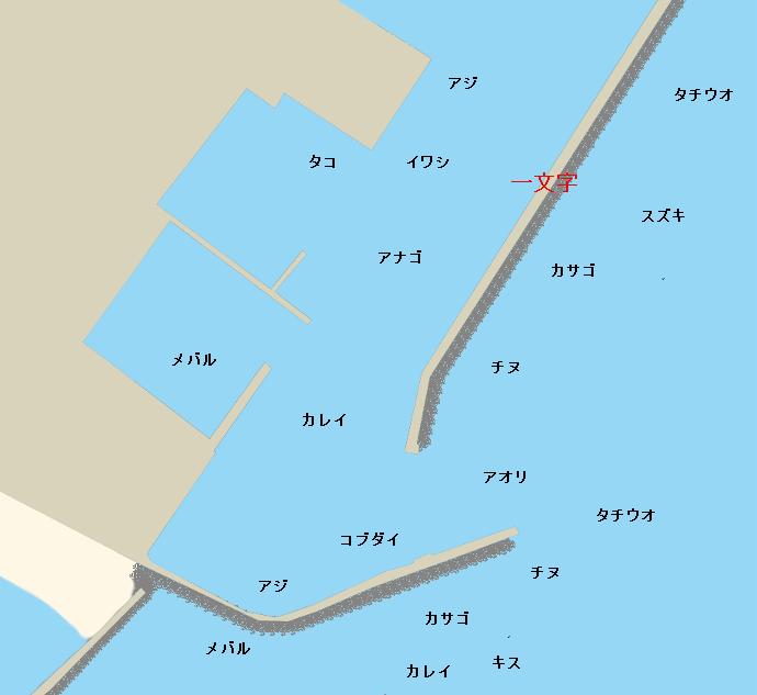 仮屋漁港ポイント図