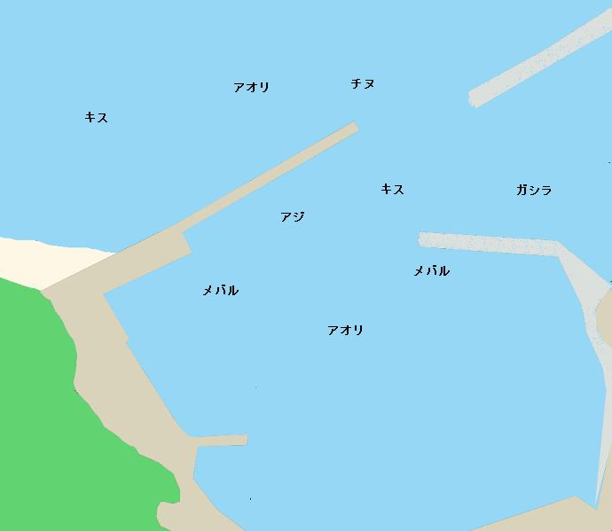 柏漁港ポイント図