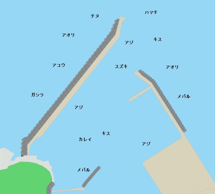 香住東港ポイント図