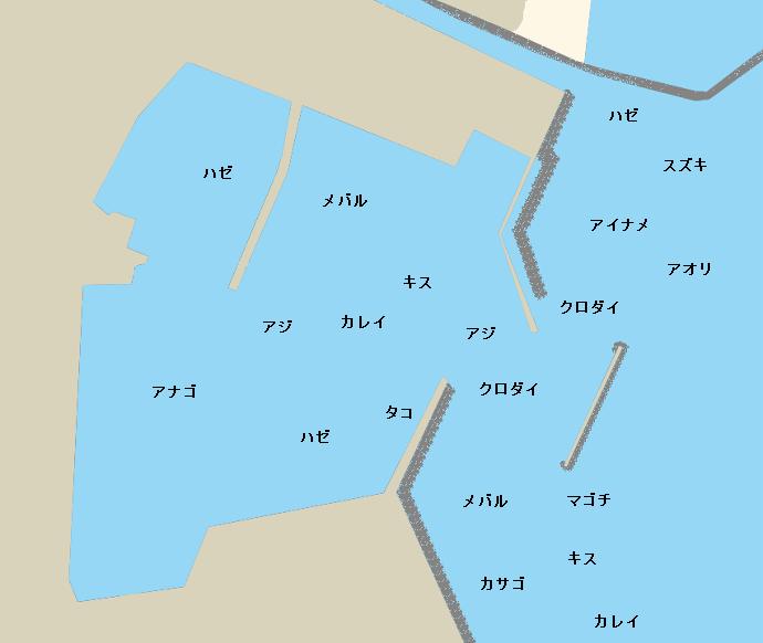 片名港ポイント図