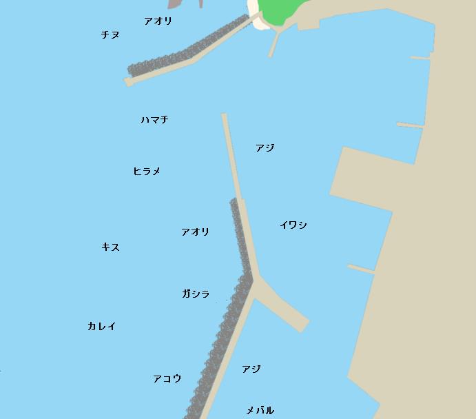 香住西港ポイント図