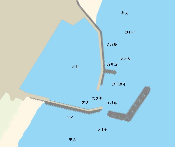 河芸漁港ポイント図
