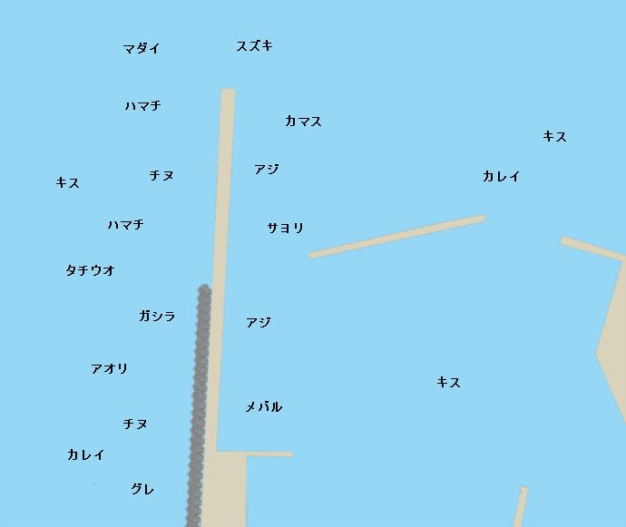 加太港ポイント図