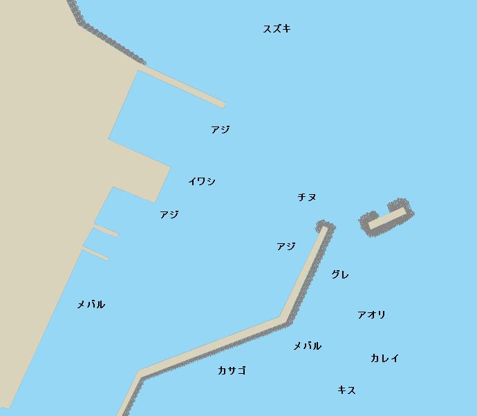 長島港ポイント図