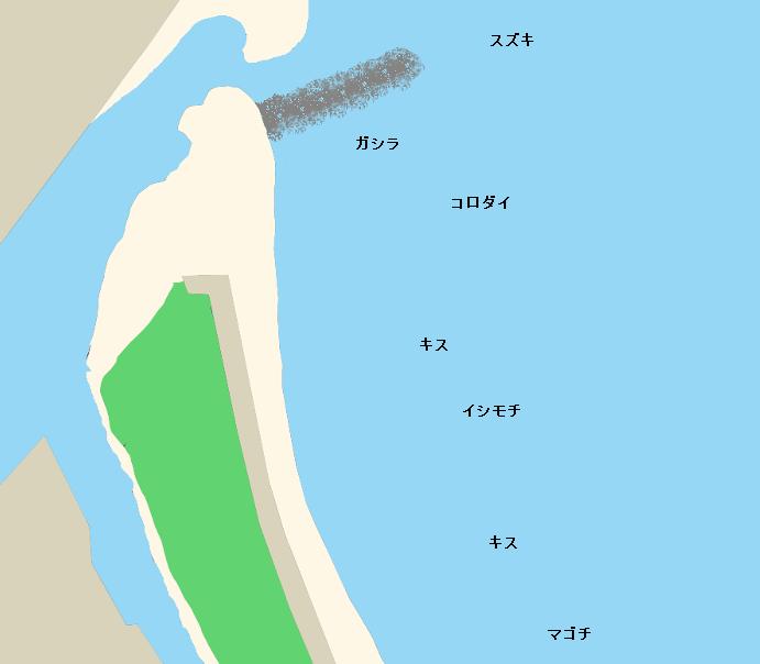 切目海岸ポイント図