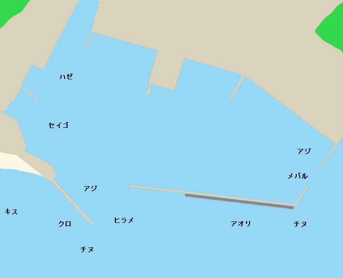 岐志漁港ポイント図