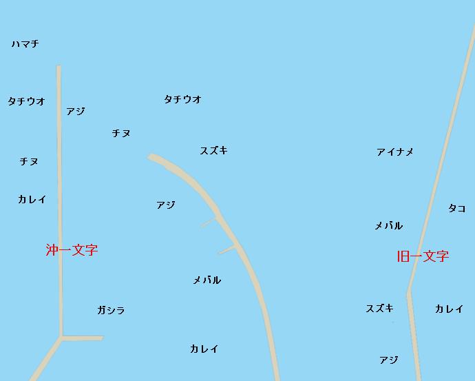岸和田一文字ポイント図