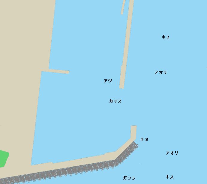 小浦漁港ポイント図