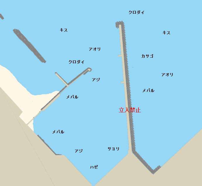国分港ポイント図