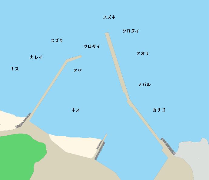 甲賀漁港ポイント図