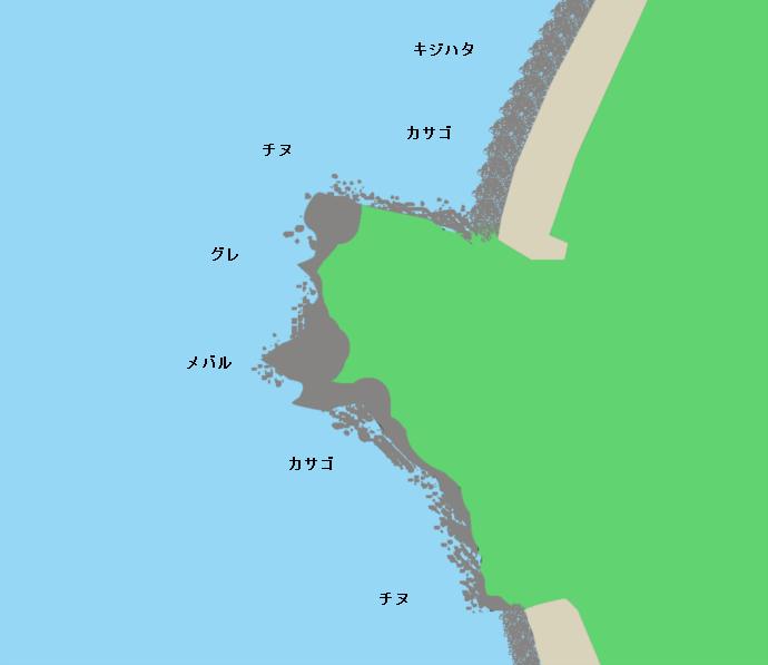 河野海岸ポイント図