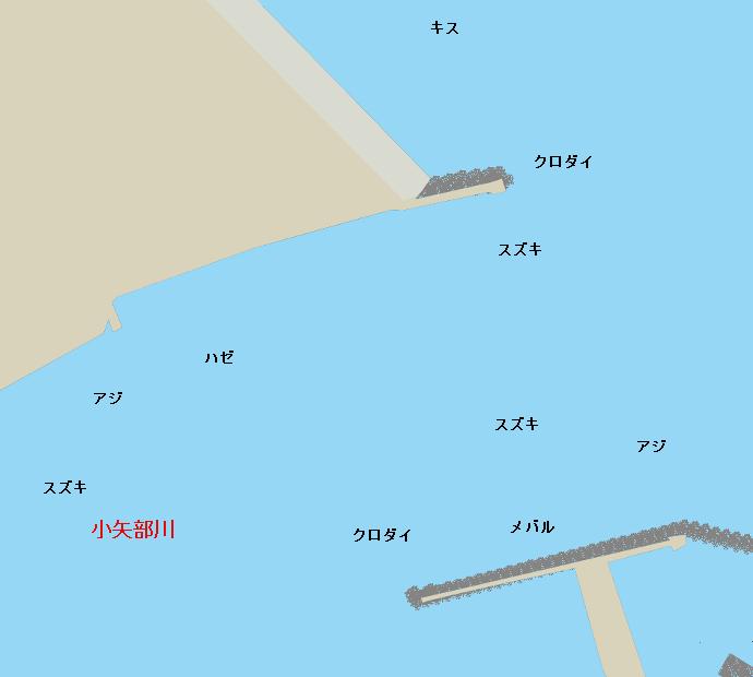 小矢部川河口ポイント図