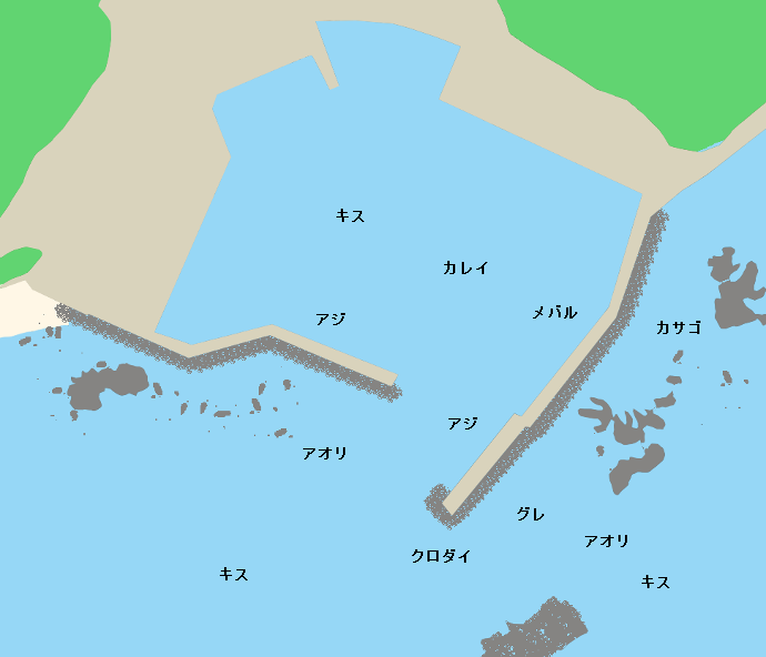 国崎漁港ポイント図