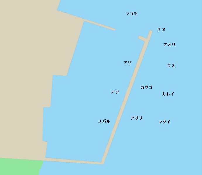栗田漁港ポイント図