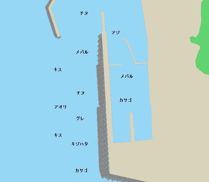 厨漁港ポイント図