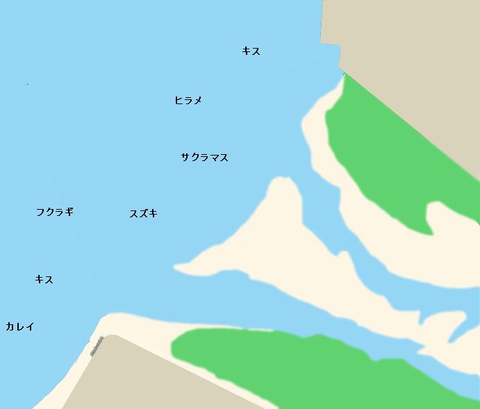 黒部川河口ポイント図