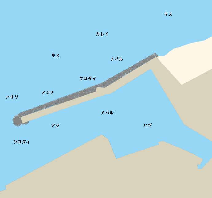 黒部漁港ポイント図