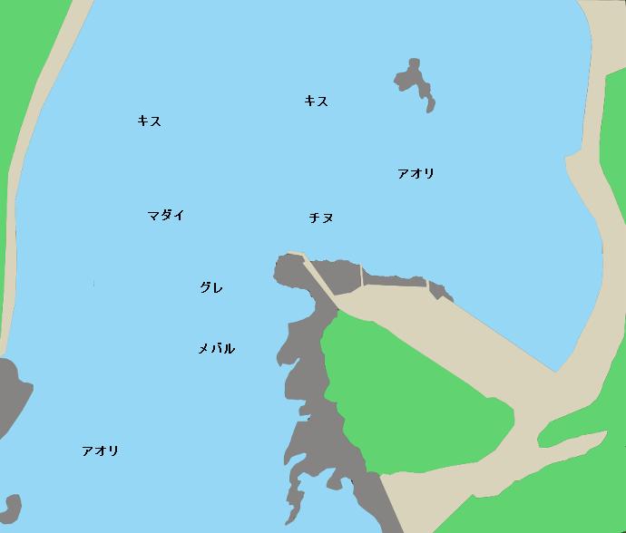 串本袋ポイント図