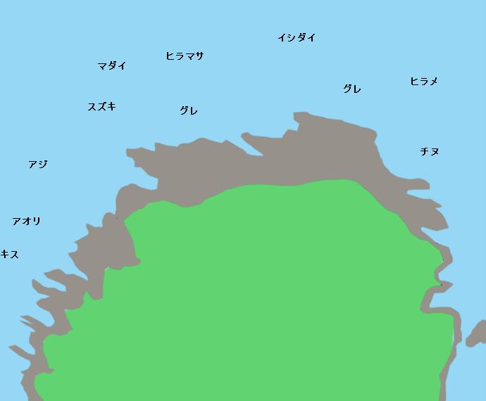 経ヶ岬ポイント図
