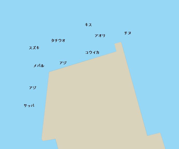 舞鶴港前島埠頭ポイント図