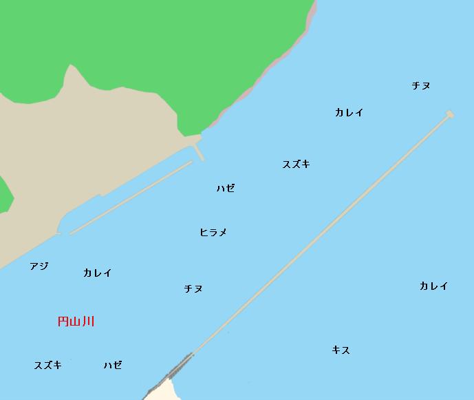 円山川河口ポイント図