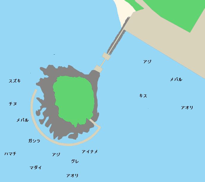 丸山海釣り公園ポイント図