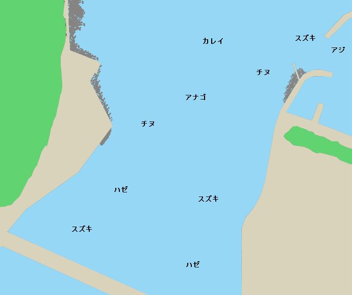 松浦川河口ポイント図